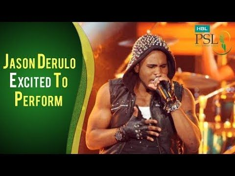 Jason Derulo Is Excited To Perform In HBL PSL 2018 Opening Ceromony | PSL
