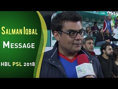Salman Iqbal Message For Fans Of Karachi Kings | HBL PSL 2018 | PSL