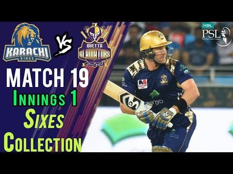Quetta Gladiators Sixes| Quetta Vs Karachi | Match 19 | 8 March | HBL PSL 2018 HD
