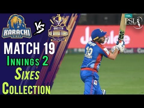 Karachi Kings  Sixes | Quetta Gladiators Vs Karachi Kings  | Match 19 | 8 March | HBL PSL 2018