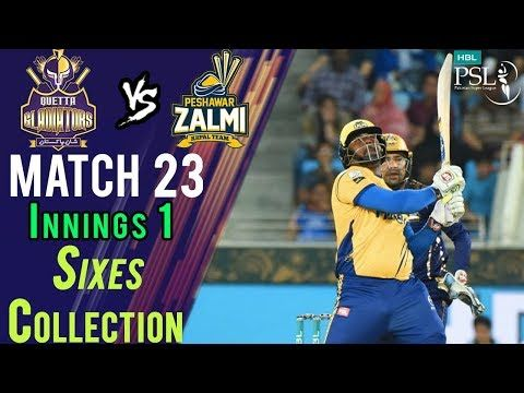 Peshawar Zalmi  Sixes | Quetta Gladiators Vs Peshawar Zalmi  | Match 23 | 10 March | HBL PSL 2018