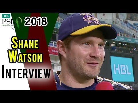 Shane Watson Interview | Quetta Gladiators Vs Peshawar Zalmi | Match 23 | 10 March | HBL PSL 2018
