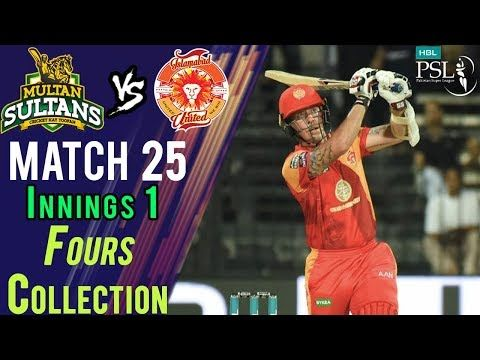 Islamabad United  Fours | Multan Sultans Vs Islamabad United | Match 25 | 13 March | HBL PSL 2018