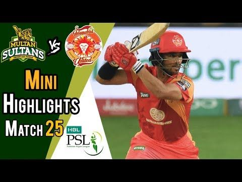 Short Highlights | Multan Sultans Vs Islamabad United  | Match 25 | 13 March | HBL PSL 2018