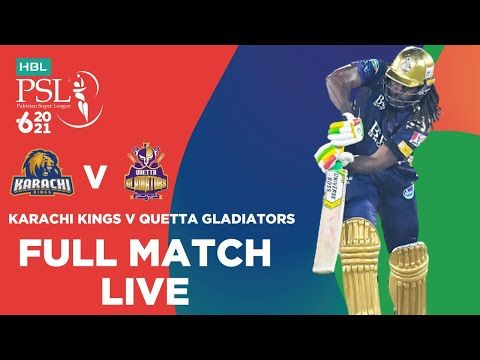 LIVE REPLAY – Karachi Kings vs Quetta Gladiators  | Match 1 | HBL PSL 6
