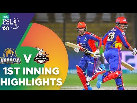 1st Inning Highlights | Karachi Kings vs Lahore Qalandars | HBL PSL 6 | Match 11 | MG2T