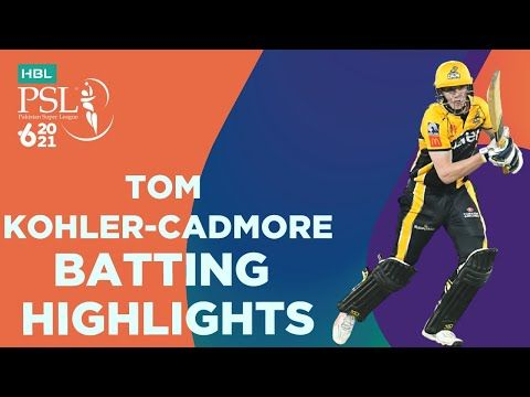 Tom Kohler Cadmore Batting Highlights | Peshawar vs Multan | Match 5 | HBL PSL 6 | MG2T